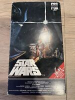 Star Wars A New Hope VHS CBS FOX Red Label 1977 RARE SCI-FI