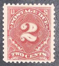 Travelstamps: 1917 Us Stamps Scott #J62 Mint, Og, 2 cent Postage Due