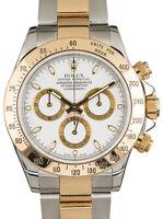 Rolex Daytona Chronograph 18k Yellow Gold & Steel Mens Watch F 116523