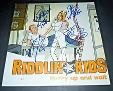 RIDDLIN KIDS~Hurry Up and Wait~12x12~Signed~Original Promo Poster~2002~Proof~B