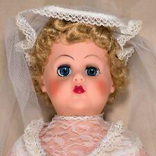 "Vintage Bride Ny Doll Shop Co. 23"" Soft Rubber Body Vinyl Head Open Close Eyes"