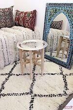 Moroccan Tray Table Silver Maillehort Cedar Wood Legs Handmade 40cm/15.7' (TST1)