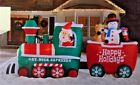 RARE NEW 15.5 FT LONG GIANT CHRISTMAS SANTA HOLIDAY TRAIN SCENE INFLATABLE GEMMY