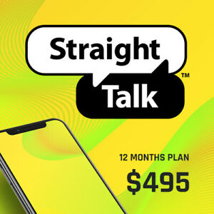 Straight Talk $495 Refill Card Top Up 12 Months 25 GB 4G LTE 365 Days Plan
