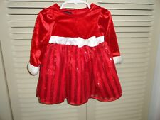 Holiday Editions baby girls red sequin dress size 6 to 9 mo.  EUC