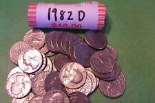 1982 D Washington Quarter Roll - 40 coins
