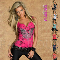 Sexy Women's Top Size 10 12 2 4 6 8 XS S M L Casual Singlet Shirt Tattoo Print
