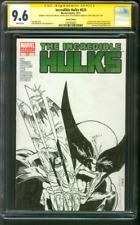 Incredible Hulk 340 Original art Homage vs Wolverine sketch 10/11