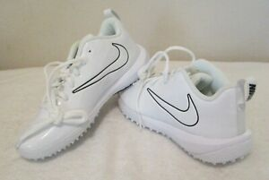 NEW Nike Vapor Varsity Turf Low Boys Lacrosse Shoes 4 White MSRP$70