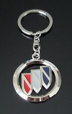CHROME KEYRING KEYCHAIN WITH COLOR TO SUIT BUICK RIVIERA ELECTRA SKYLARK GSX