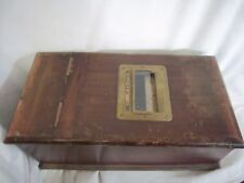 Wood Box Cash Till Money Register Antique Early 20th Century British Coins