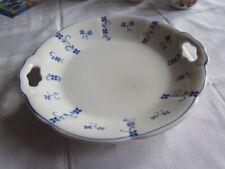 Servierplatte Kuchenplatte Villeroy und Boch Steingutfabrik Torgau weiß mit blau