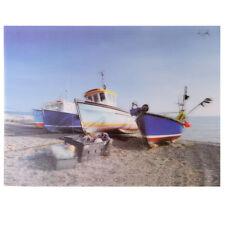 Meereskante Fischerboote 3D Bild