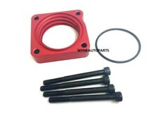 RED Throttle Body Spacer Fit 12-15 Honda Civic SI 2.4L Power Flow Aluminum