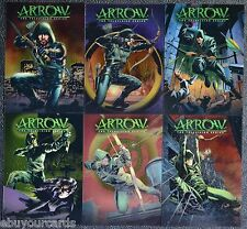 Cryptozoic Arrow Comic Book Acetate Covers Complete Set CC1-CC6 Trading Cards DC