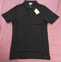 Sunspel Men's Navy Blue Cotton Riviera Polo Shirt Size XS S XL New With Tags
