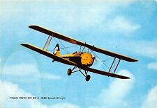 B71539 Tiger Moth DH 82 a 1926 Speed 64 mph avion airplane Germany