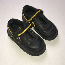 Nike Vandal Low Toddler Athletic Shoes Black Yellow Size 6C 314677-003 No Laces