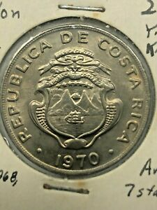 1970 Costa Rica 1 Colon Uncirculated Coin #186