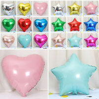 5x18'' Solid Colour Helium Foil Balloons Heart Star Shape Wedding Birthday Party