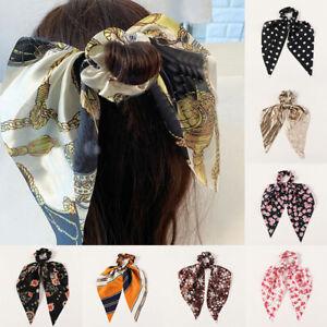 Elegant Dot Striped Floral Scrunchies Bow Streamers Hair Ties Ponytail Hair Rope