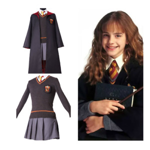 Cosplay Hermione Granger Gryffindor Uniform Kid's & Adult Costume #