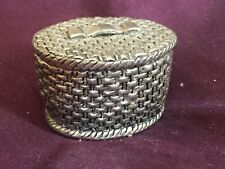 Sewing basket  model- metal ornamental pin cushion with lid and insert