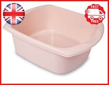 Addis Rectangular Washing Up Bowl, Blush Pink, 9.5 Litre