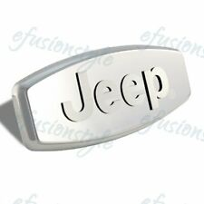 """JEEP 3D LOGO Stainless Steel Hitch Cover 2"""" & 1.25"""" Trailer Tow Receiver"""