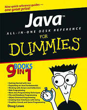 Java All-in-One Desk Reference For Dummies, Lowe, Doug Paperback Book The Cheap