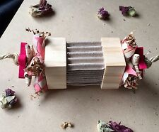 Chunky Wood Chew Block Pet Rabbit Guinea Pig Toy - Cardboard Vine Paper Shredder