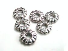 50 x 7mm Tibetan Silver Ring Beads Spacer Jewellery Craft FREE UK P+P G192