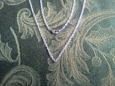 JEWELRY CRAFT SUPPLYS 2 His & Hers Stainless Steel Rope Chain Necklace. ALL NEW