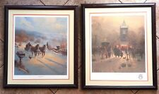 G Harvey Prints Framed Signed Building Memories Bond of Faith Focus on Family
