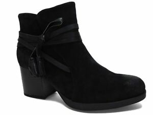 b.o.c. Women's Amber Booties Black Suede Size 9 M