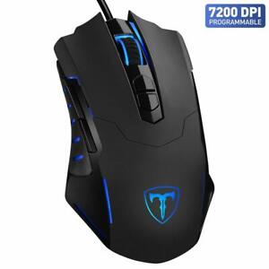 Gaming Mouse【7200 DPI & 7 Programmable Buttons】VicTsing Professional Wired