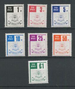 Gibraltar SGD13-D19 1984 Postage Due U/M
