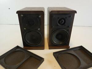 VINTAGE KOSS Pair of M60 Plus bookshelf speakers TESTED WORKING 8 Ohms