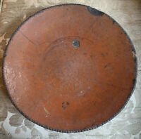 Primitive Redware Charger - 11 Inches Wide.