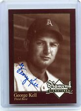 2006 DIAMOND SIGNATURES (NO #) GEORGE KELL AUTOGRAPH, A'S, TIGERS, HOF, 081317