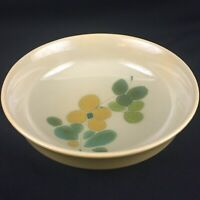 "VTG Round Vegetable Bowl 9"" Franciscan Pebble Beach Yellow Green Floral USA"