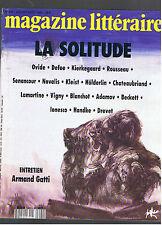 MAGAZINE LITTERAIRE N°290 1991 LA SOLITUDE