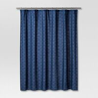 Shower Curtain Navy TARGET Project 62 Blue Geo 72x72 NEW