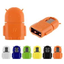USB 2.0 Mini Cute OTG Robot Transfer Adapter Converter For Android Phone Tablet
