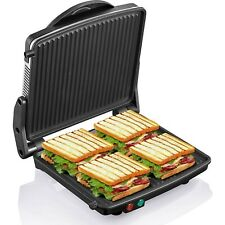 Sandwich Grill Panini Press Maker Pressing Toaster Stainless Steel 4 Slice Large