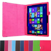 For Microsoft Surface 3 Pro 3 4 Thin Case Cover PU Leather Protective Shell Skin