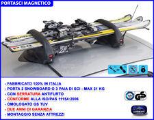 Portasci magnetico auto porta snowboard sci con chiavi antifurto omologato per