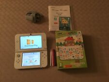 Nintendo New 3DS XL Portable Game Console White Green And Animal Crossing Design