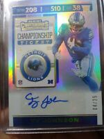 2019 Panini Contenders TY JOHNSON Championship Ticket Rookie Auto 4/25 Signed