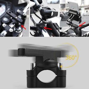 1x Black Aluminum 360° Motorcycle Branch Bracket Mount Stand for LED Light Base